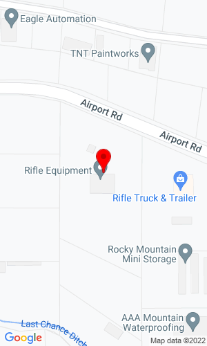 Google Map of Rifle Equipment, Inc. 1605 Airport Road, Rifle, CO, 81650