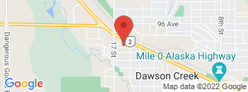 Google Map of 1609+Alaska+Avenue%2CDawson+Creek%2CBritish+Columbia+V1G+1Z9
