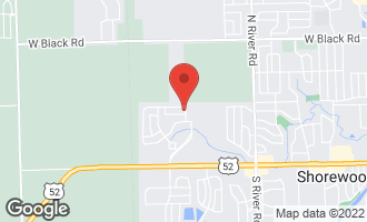 Map of 1609 Moran Drive SHOREWOOD, IL 60404