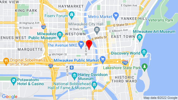 Google Map of 161 W Wisconsin Ave, Milwaukee, WI