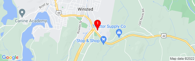 Google Map of 161 Old New Hartford Road Winsted, Connecticut 06098