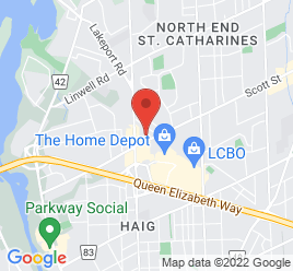 Google Map of 161+Scott+Street%2CSt+Catharines%2COntario+L2N+1H3