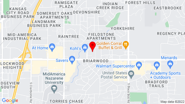Google Map of 16100 W. 135th St., Olathe, KS 66062