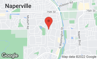 Map of 1613 Clyde Drive NAPERVILLE, IL 60565