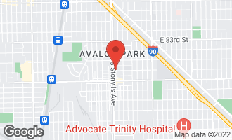 Map of 1614 East 86th Street CHICAGO, IL 60617