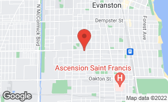 Map of 1614 Main Street A EVANSTON, IL 60202