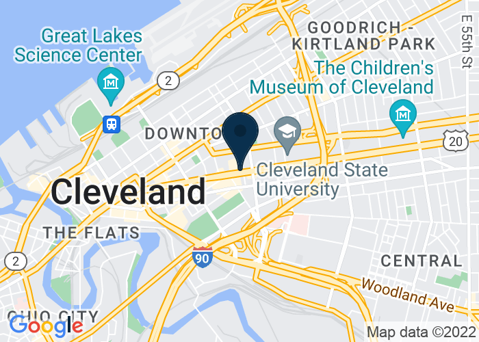 Map of 1615 Euclid Avenue, Cleveland, OH 44115, United States