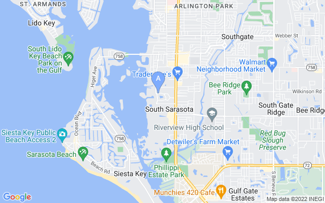 1616 N Lake Shore Dr Sarasota Florida 34231 locatior map
