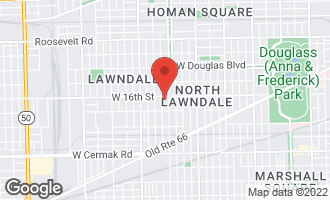 Map of 1617 South Avers Avenue CHICAGO, IL 60623