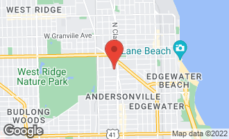 Map of 1617 West Thorndale Avenue CHICAGO, IL 60660