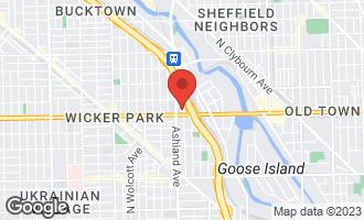 Map of 1618 North Bosworth Avenue 3E CHICAGO, IL 60642