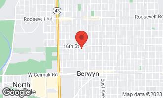 Map of 1621 Kenilworth Avenue BERWYN, IL 60402