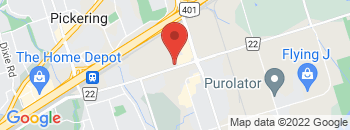 Google Map of 1622+Bayly+Street%2CPickering%2COntario+L1W+3N2