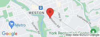Google Map of 1622+Weston+Road%2CToronto%2COntario+M9N+1T9