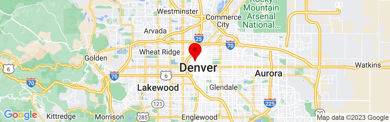 Google Map of The Detailing Syndicate Denver Colorado,1624 Market St Suite 202,Denver,CO 80202,USA,39.750116388889,-104.99751611111