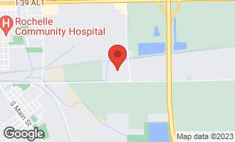 Map of 16250 Creston Road ROCHELLE, IL 61068