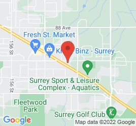 Google Map of 16299+Fraser+Highway%2CSurrey%2CBritish+Columbia+V4N+0G1