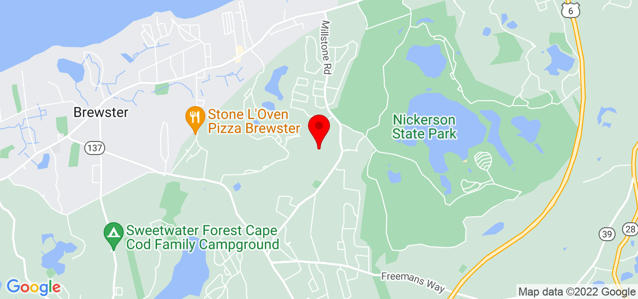 Google Map of163 Captains Village Lane Brewster MA