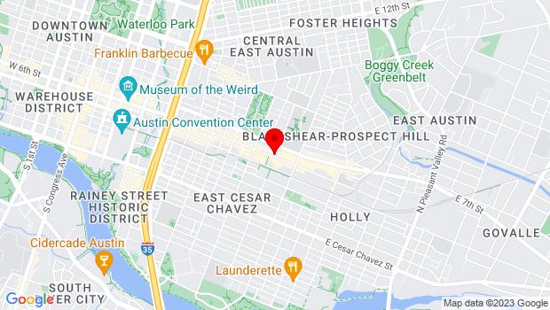 Google Map of 1630 E. 6th St., Suite 100, Austin, TX 78702