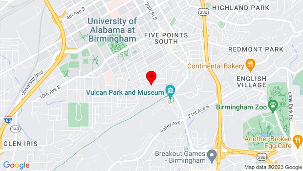 Google Map of 1631 15th Avenue South, Birmingham, AL 35205