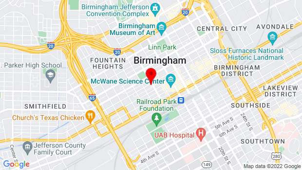 Google Map of 1631 Fourth Avenue North, Birmingham, AL 35203