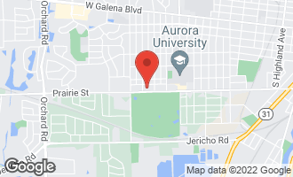 Map of 1633 Prairie Street AURORA, IL 60506
