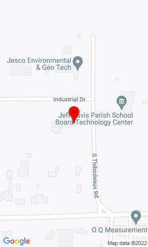 Google Map of Guinn Auction Company 1635 Thibodeaux Rd, Jennings, LA, 70546