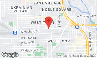 Map of 1637 West Grand Avenue #4 CHICAGO, IL 60622