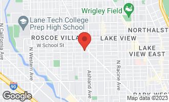 Map of 1640 West Belmont Avenue #4 CHICAGO, IL 60657