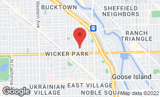 Map of 1642 North Wood Street CHICAGO, IL 60622