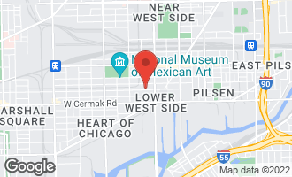 Map of 1644 West 21st Street #4 CHICAGO, IL 60608