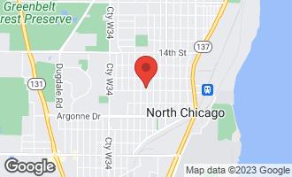 Map of 1648 Elizabeth Avenue NORTH CHICAGO, IL 60064