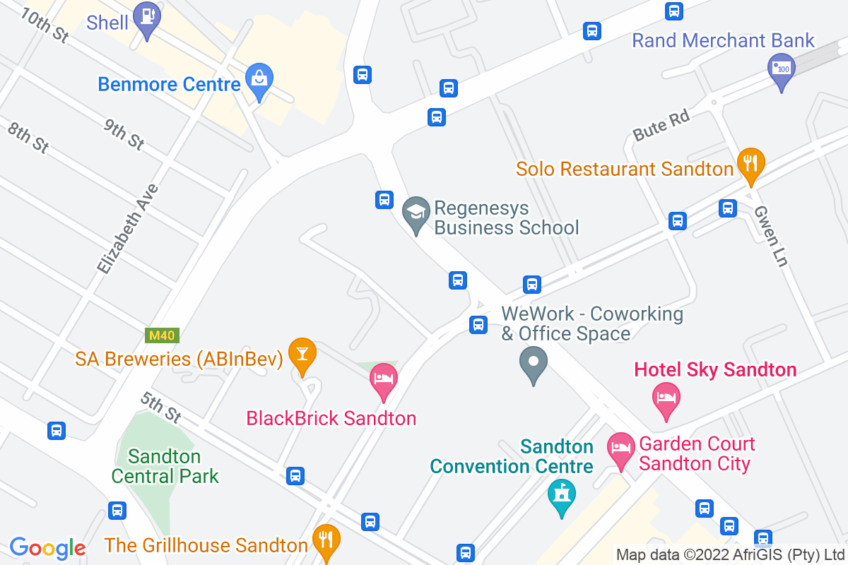 Google Map of 165 West Street, Sandton, Johannesburg, 2031​, South Africa
