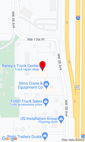 Google Map of Raney Truck Sales, Inc. 1650 NW 38th Avenue, Ocala, FL, 34482