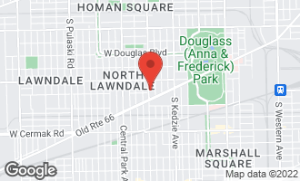 Map of 1651 South Homan Avenue CHICAGO, IL 60623