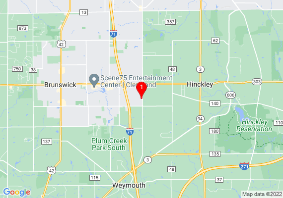Google Map of 1654 West 130th Street Brunswick, OH 44212