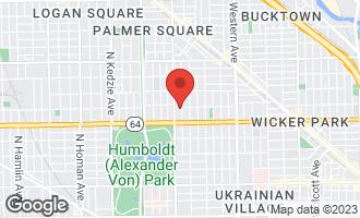 Map of 1654 North Fairfield Avenue CHICAGO, IL 60647
