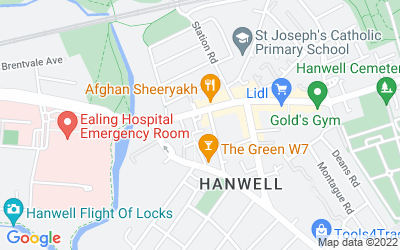 Map of Hanwell Branch