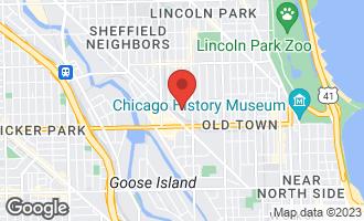Map of 1660 North Dayton Street #1 CHICAGO, IL 60614