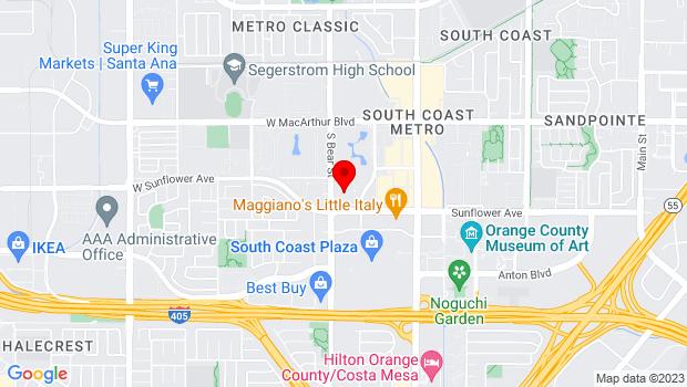 Google Map of 1661 W. Sunflower Ave., Santa Ana, CA 92704