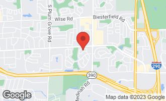 Map of 1664 Carolina Drive ELK GROVE VILLAGE, IL 60007