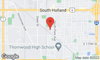 Map of 16644 Thornton Avenue SOUTH HOLLAND, IL 60473