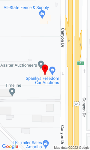 Google Map of Assiter Auctioneers 16650 Interstate 27, Canyon (Amarillo), TX, 79015