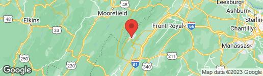Map of 1667 FAIRWAY DRIVE BASYE, VA 22810