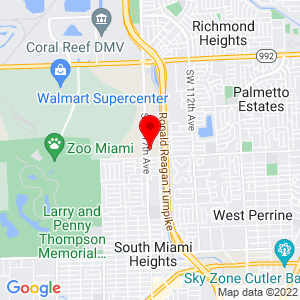 Google Map of 16677 SW 117th Ave Miami, FL 33177