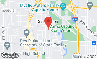 Map of 1670 Whitcomb Avenue DES PLAINES, IL 60018