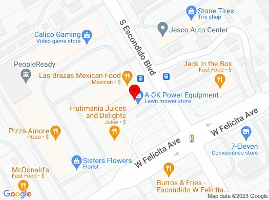 Google Map of 1671 S Escondido Blvd