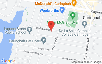 Map of Clinic 1. Quantum Hypnotherapy Clinic  - Main Office in Caringbah