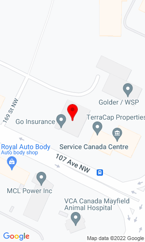 Google Map of Finning CAT 16830 107th Avenue, Edmonton, AB, T5P 4C3