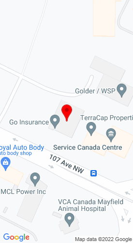 Google Map of Finning CAT 16830 107th Avenue, Edmonton, Alberta, Canada, T5P 4C3